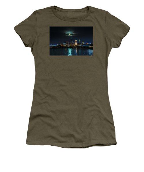 Moon Over Cleveland  Women's T-Shirt