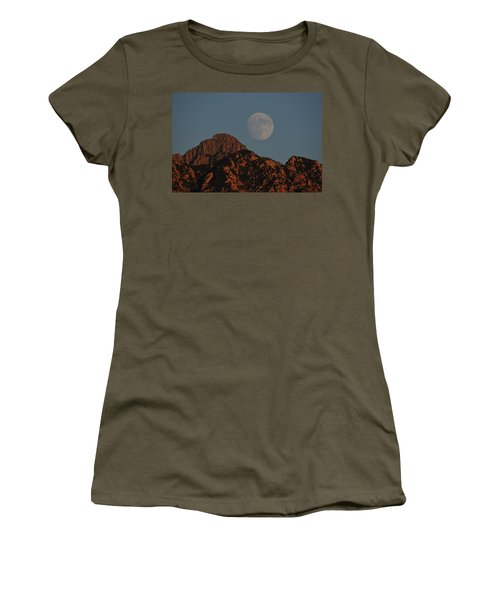 Moon Rise Over Mount Wrightson  Women's T-Shirt