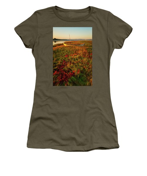 Women's T-Shirt featuring the photograph Morning Dory by Jeff Sinon