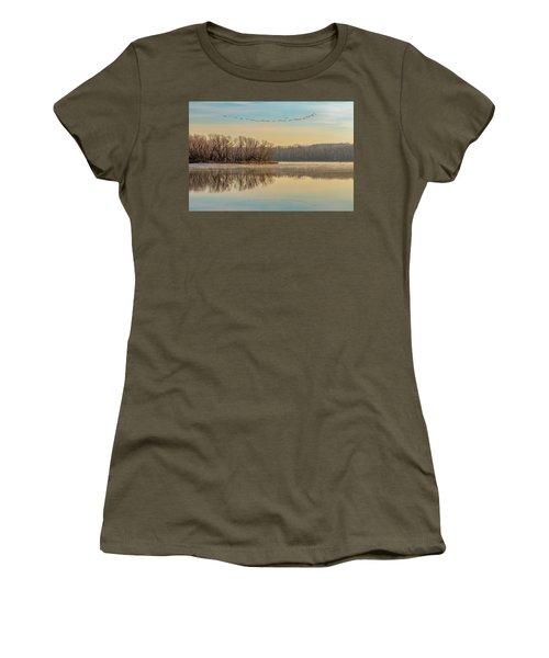 Women's T-Shirt featuring the photograph Morning Flight by Allin Sorenson