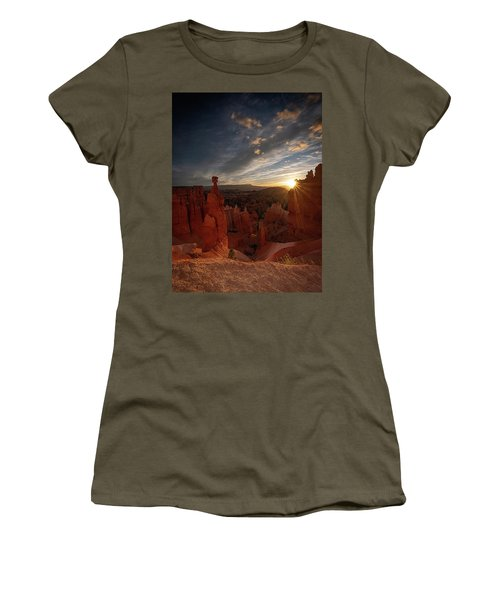 Women's T-Shirt featuring the photograph Morning Kiss by Edgars Erglis