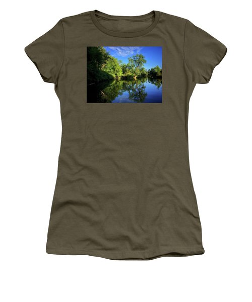 Women's T-Shirt featuring the photograph Mount Vernon Iowa by Dan Miller