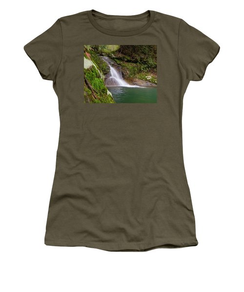 Women's T-Shirt featuring the photograph Mountain Waterfall II by William Dickman