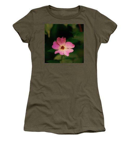Multi Floral Rose Flower Women's T-Shirt