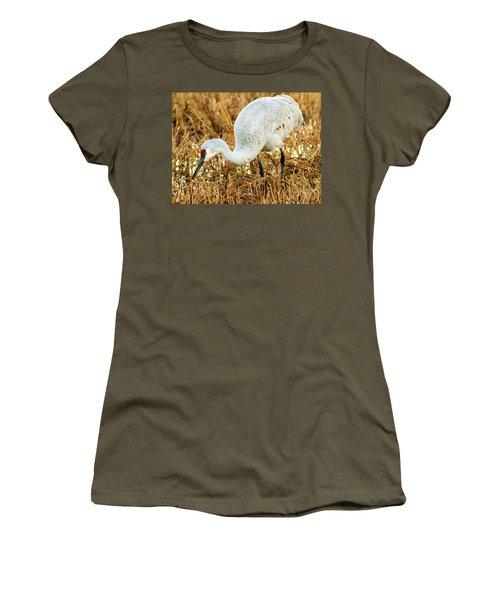 Munching Sandhill Crane Women's T-Shirt