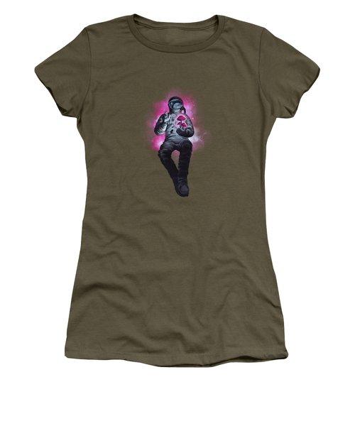 Mushroom Cosmonaut Space Traveller Women's T-Shirt