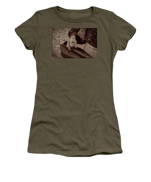 Women's T-Shirt (Athletic Fit) featuring the photograph Musician 1349 by Guy Whiteley