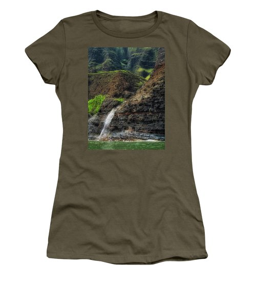 Na Pali Coast Waterfall Women's T-Shirt