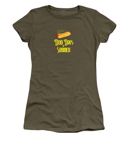 National Hot Dog Days Of Summer T Shirt Hot Dog Lovers Women's T-Shirt