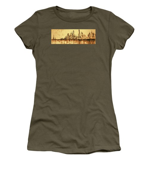 New York City Skyline 79 - Water Color Drawing Women's T-Shirt