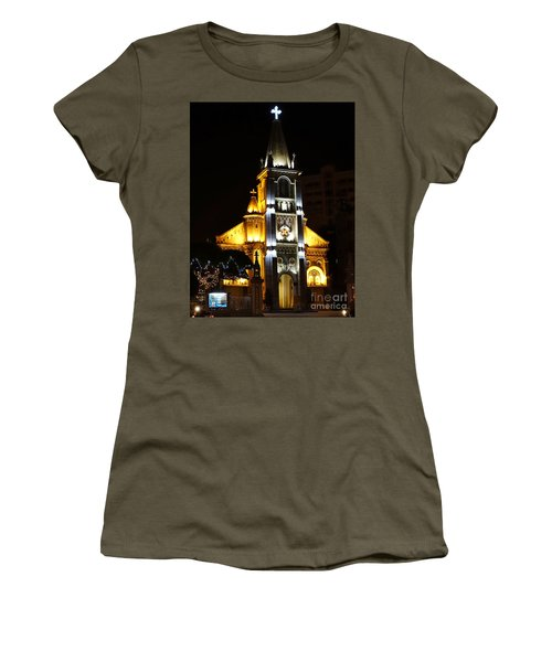 Night View Of The Holy Rosary Cathedral Women's T-Shirt
