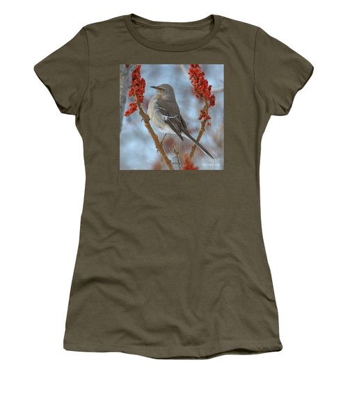 Women's T-Shirt featuring the photograph Northern Mockingbird by Debbie Stahre