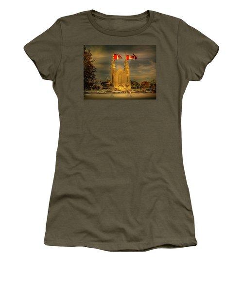 Women's T-Shirt featuring the photograph Notre Dame Basilica by Juan Contreras