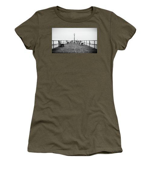Women's T-Shirt featuring the photograph Ocean Grove Pier 1 by Steve Stanger