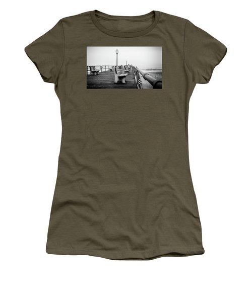 Women's T-Shirt featuring the photograph Ocean Grove Pier 2 by Steve Stanger