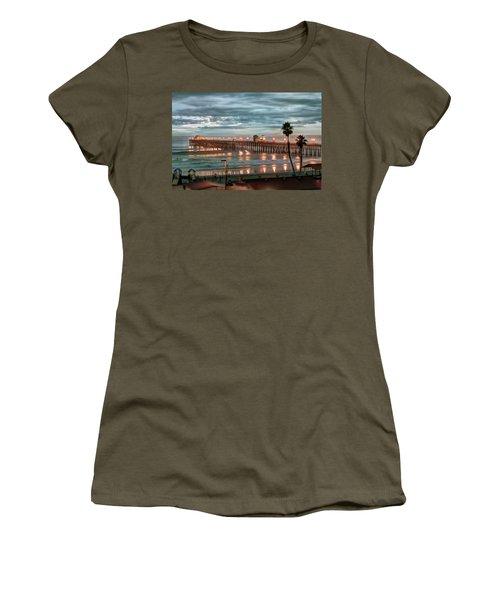 Oceanside Pier At Dusk Women's T-Shirt