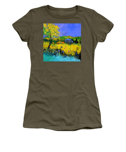 Old Barn In Summer Women's T-Shirt
