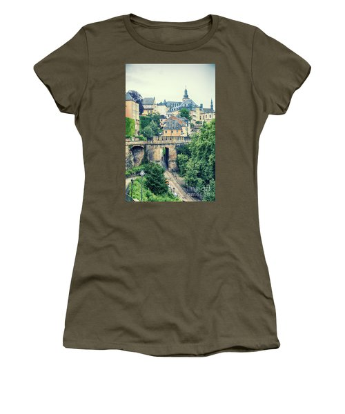 old city Luxembourg from above Women's T-Shirt