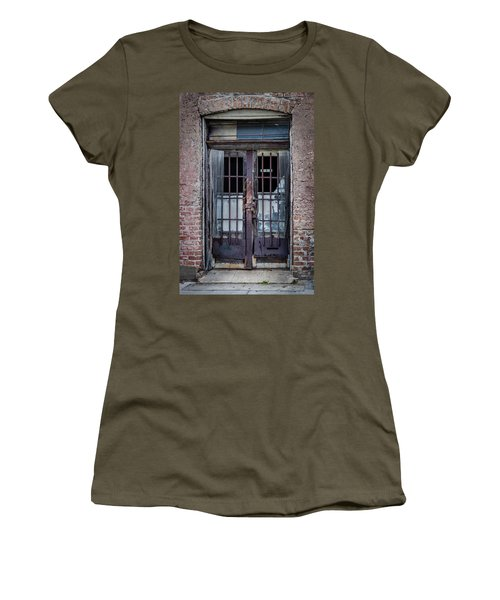 Women's T-Shirt featuring the photograph Old Door by James Woody