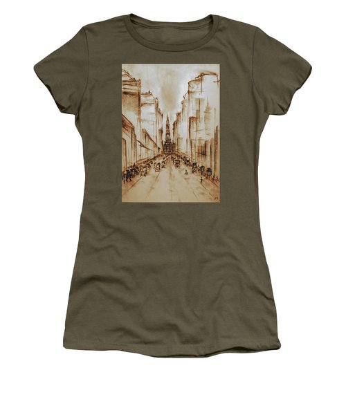 Old Philadelphia City Hall 1920 - Pencil Drawing Women's T-Shirt