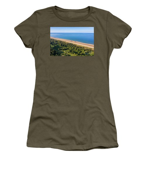 Omaha Beach Aerial View Women's T-Shirt