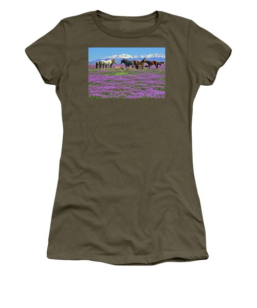 Women's T-Shirt featuring the photograph Onaqui Spring by Greg Norrell