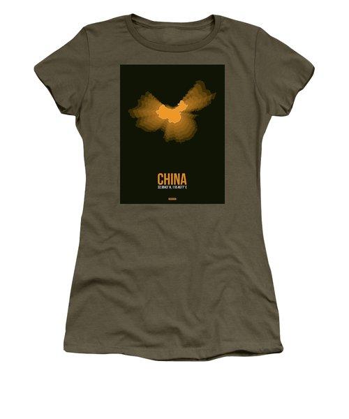 Orange Map Of China  Women's T-Shirt