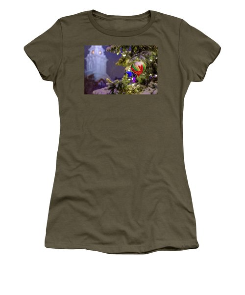 Women's T-Shirt featuring the photograph Ornament, Market Square Christmas Tree by Jeff Sinon