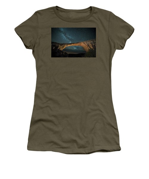 Owachomo Natural Bridge And Milky Way Women's T-Shirt
