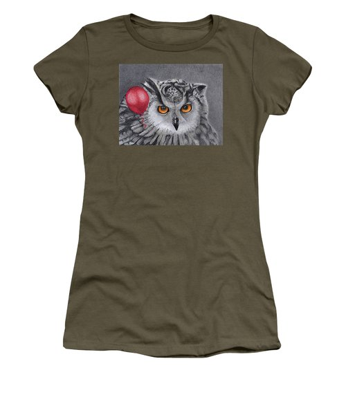 Owl With The Red Balloon Women's T-Shirt