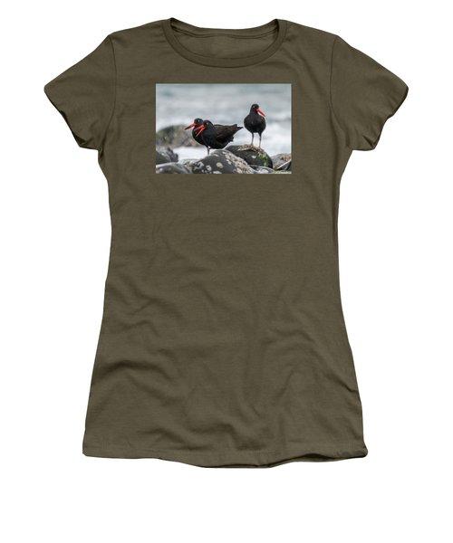 Oystercatchers In The Rain Women's T-Shirt