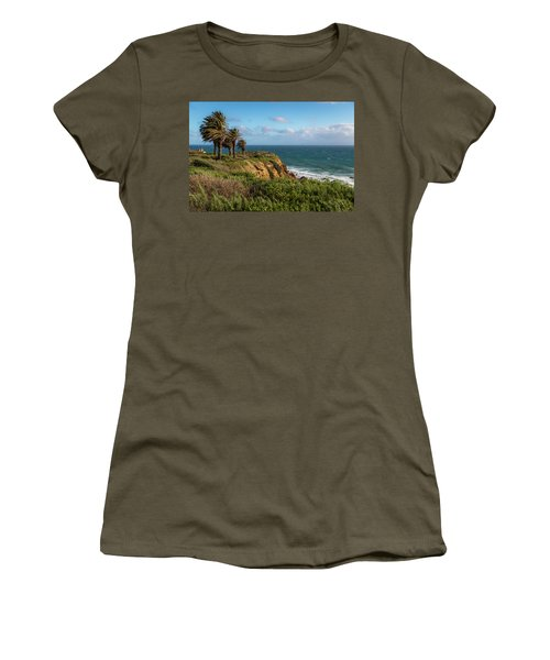 Palm Trees Blowing In The Wind Women's T-Shirt