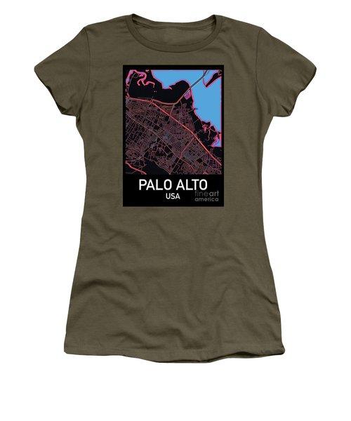 Palo Alto City Map Women's T-Shirt