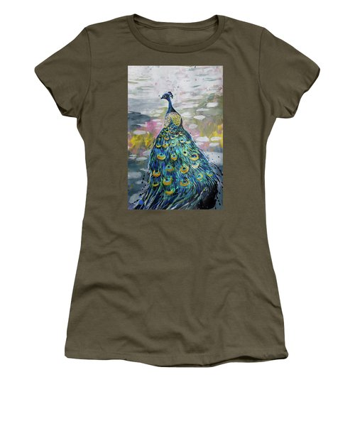 Peacock In Dappled Light Women's T-Shirt