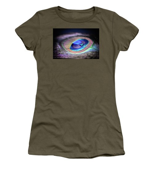 Women's T-Shirt featuring the photograph Peacocked by Michelle Wermuth