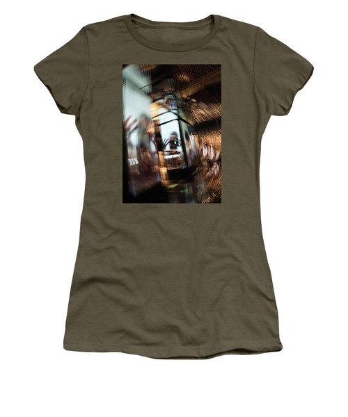 Women's T-Shirt featuring the photograph Peering Through by Alex Lapidus