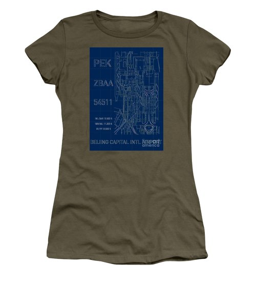 Pek Beijing Capital Airport Blueprint Women's T-Shirt