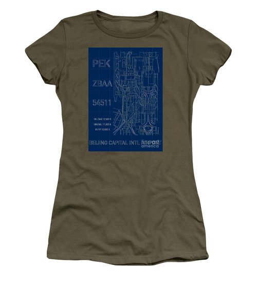 Pek Beijing Capital Airport Blueprint Women's T-Shirt