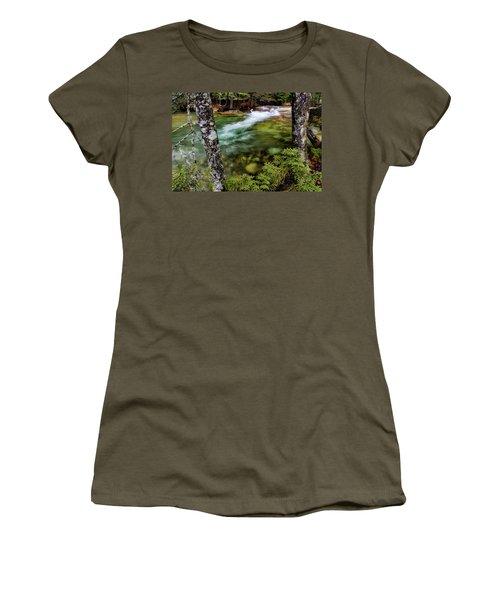 Women's T-Shirt featuring the photograph Pemigewasset River, Basin Trail Nh by Michael Hubley