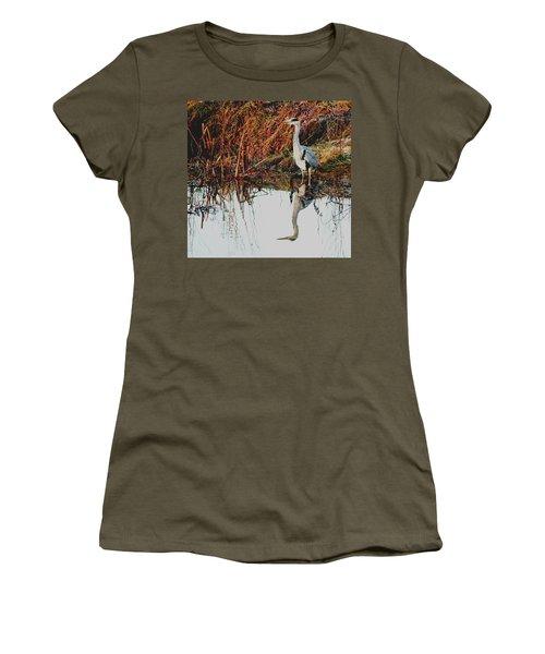 Pensive Heron Women's T-Shirt