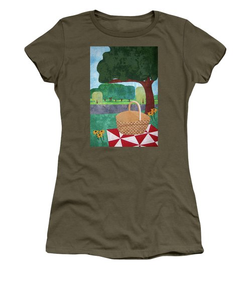 Picnic At Ellis Pond Women's T-Shirt