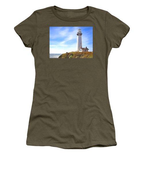 Pigeon Point Lighthouse Ca Women's T-Shirt