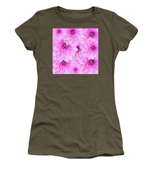 Pink Dahlia Flower Design Women's T-Shirt
