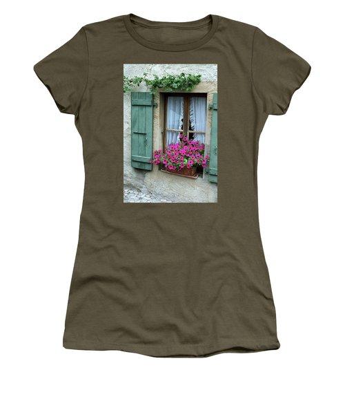 Pink Window Box Women's T-Shirt