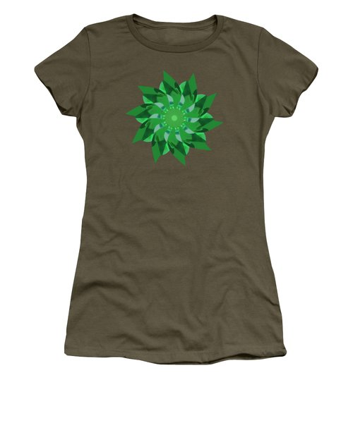 Pinwheel In Green - Transparent Women's T-Shirt