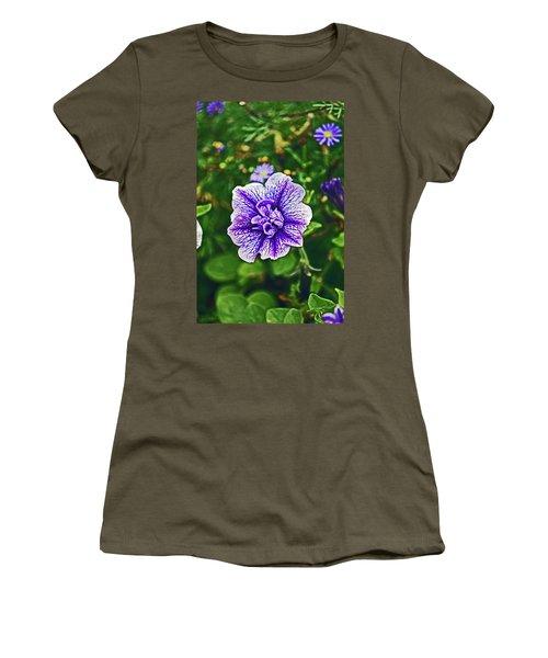 Pitlochry.  Purple Petunia. Women's T-Shirt