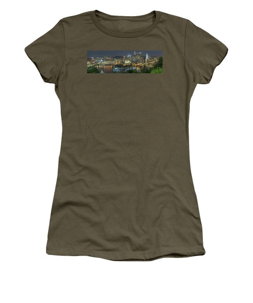 Women's T-Shirt featuring the photograph Pittsburgh Lights by David R Robinson