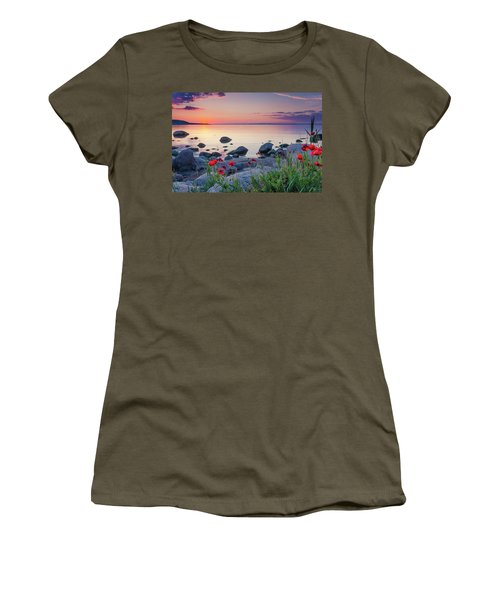 Poppies By The Sea Women's T-Shirt