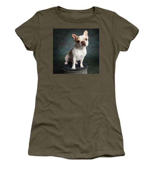 Portrait Of A French Bulldog Women's T-Shirt