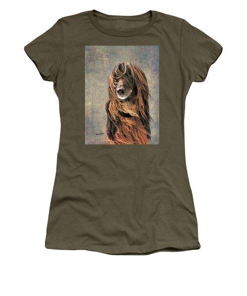 Portrait Of An Afghan Hound Women's T-Shirt